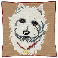 Westie  Tapestry Cushion Kit