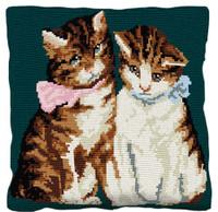 Kittens Tapestry Cushion Kit