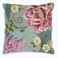 Floral Swirl in green Tapestry Kit