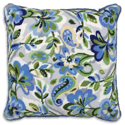 Paisley Floral in Blue Tapestry Kit