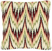 Bargello Peach Cushion Kit