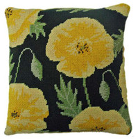 Yellow Poppy Tapestry Cushion Kit