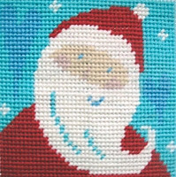 Santa Christmas Needlepoint Kit