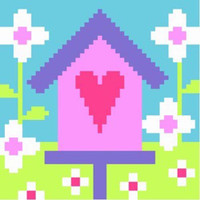 Bird House Needle Point By Stitching Shed