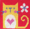 Cat Needle Point By Stitching Shed
