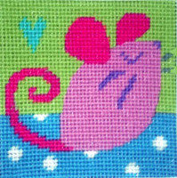 Mouse Needle Point By Stitching Shed