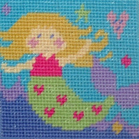 Mermaid Children Needlepoint Kit