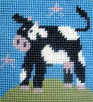 Cow Children Needlepoint Kit