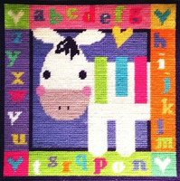 Zebra Alphabet Needle Point By Stitching Shed