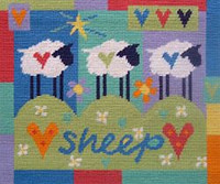 Three Sheep Needlepoint Kit