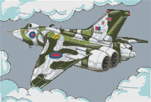 Vulcan Bomber Cross Stitch Chart By Stitchtastic