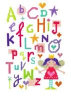 Fairy Alphabet Cross Stitch Kit By Stitching Shed