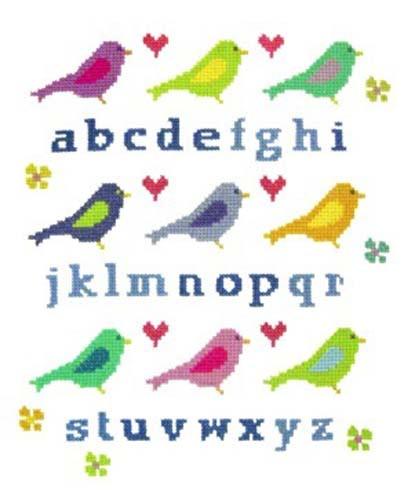 Love Bird Sampler Cross Stitch Kit By Stitching Shed