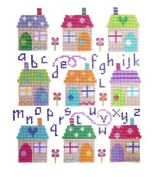 Village Sampler Cross Stitch Kit By Stitching Shed