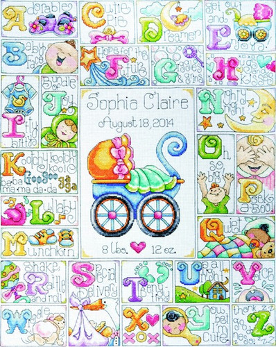 Baby Abc Sampler Cross Stitch Kit By Design Works