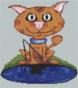 Ginger Tom Cat Caricature Cross Stitch Kit