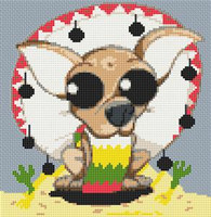 Chihuahua Dog Caricature Cross Stitch Kit