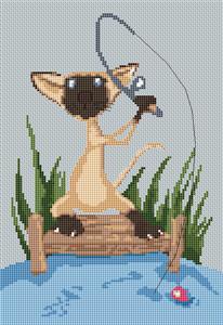 Siamese Cat Caricature Cross Stitch Kit