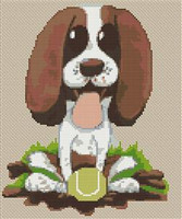 Springer Spaniel Puppy Caricature Cross Stitch Kit