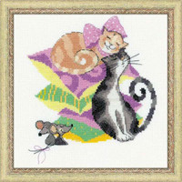 Cats And Mice Cross Stitch Kit By Riolis