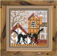 City & Cats Autumn Cross Stitch Kit