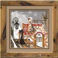City & Cats Winter Cross Stitch Kit