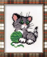 Kitten With Ball Cross Stitch Kit