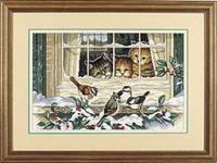 Three Bird Watchers Cross Stitch Kit