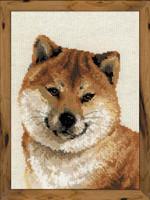 Japanese Husky Cross Stitch Kit By Riolis