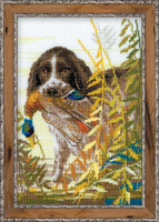 Hunting Spaniel Cross Stitch Kit