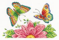 Butterfly Garden  Cross Stitch Kit By Dmc