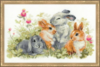 Spring Bunnies Cross Stitch Kit By Riolis