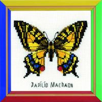 Swallowtail Butterfly Cross Stitch Kit By Riolis