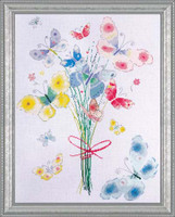Butterfly Bunch Cross Stitch Kit By Design Works