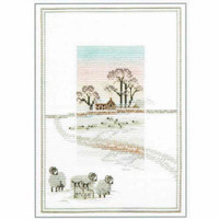 Snowy Sheep Cross Stitch Kit