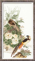 Pheasants Cross Stitch Kit