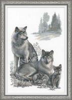 Wolves Cross Stitch Kit