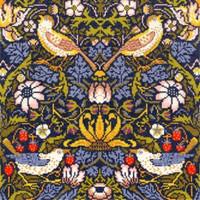 William Morris: Strawberry Thief Cross Stitch Kit