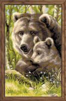 Bear With Cub Cross Stitch Kit
