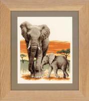 Elephants Journey Cross Stitch Kit By Vervaco