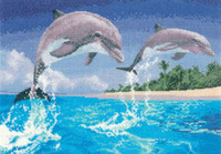 Dolphins Cross Stitch Kit By Heritage