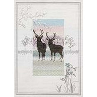 Frosty Deer Cross Stitch Kit