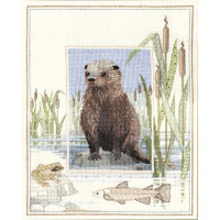 Otter Cross Stitch Kit By Derwentwater Designs