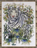 White Tiger Cross Stitch Kit By Design Works