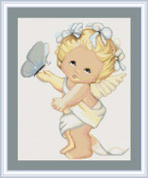 Butterfly Angel Cross Stitch Kit By Luca S