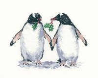 Christmas Penguins Cross Stitch Kit By Heritage