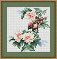 Bird In Flowers Cross Stitch Kit By Luca S