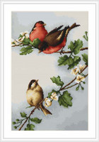 Birds On Branch Cross Stitch Kit By Luca S