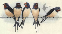 Swallows Cross Stitch Kit By Derwentwater