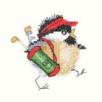 Golfing Chick Cross Stitch Kit